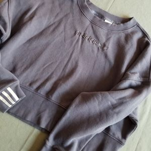 Adidas plum crop crew sweatshirt large